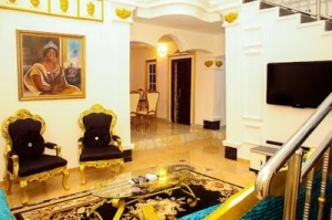 Checkout The Interior View Of The Mansion Comedian I Go Dye Bought For His Mum (Photos)